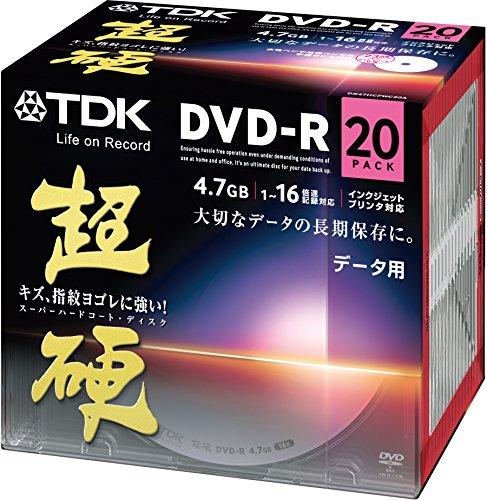 TDK データ用DVD-R 16速対応 ホワイトワイドプリンタブル キズや指紋ヨゴレに強いスーパーハードコート ディスク  超硬 シリーズ 20枚パック DR47HCPWC20A