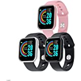 JJSFJH Smart Watch Blood Pressure Heart Rate Monitor Waterproof Fitness Tracker Watch (Color : Silver white)