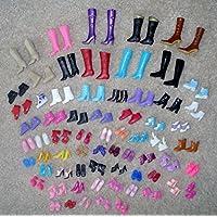 ドール バービー 人形靴 バービー用ハイヒール ランダム 12ペア 山盛り靴 1/6バービー(約29cm)専用
