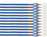 (Blue) - Champion Sports Heavy Duty Nylon Lanyard