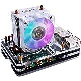GeeekPi Raspberry Pi 4 Case with ICE Tower Cooler CPU Cooling Fan,Raspberry Pi 4 Case with Fan Raspberry Pi Heatsink Raspberr