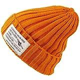 HIROMARUjp ニット帽 タグ付き ニットキャップ 帽子 男女兼用 A オレンジ