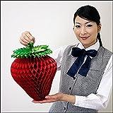イチゴ装飾 いちご折りたたみハニカムPOP H32cm 3個組 H32cm×W25cm / 飾り ディスプレイ 春 7284