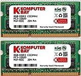 Komputerbay DDR3-1333 1.35V(低電圧) ノートPC用SODIMM 16GBセット (8GB×2) PC3-10600
