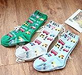 ( bambini ) カラフル カラー 靴下 3足セット ベビー ジュニア サイズ 滑り止め 付 (くるま) …