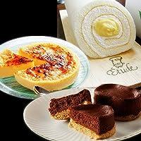 チョコレート ケーキ 完熟ショコラ5個 アイス焼きプリン カタラーナ1台 ロールケーキ たまごロール1台