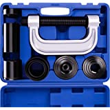 OrionMotorTech Heavy Duty Ball Joint Press & U Joint Removal Tool Kit with 4x4 Adapters, for Most 2WD and 4WD Cars and Light