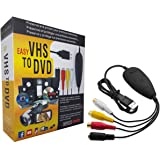 USB2.0ビデオキャプチャー デジタルデータ化 VHS 8mm ビデオテープをPC/DVDに簡単保存Windows 2000 / XP/Vista/Win 7/8/8.1/10対応 video capture