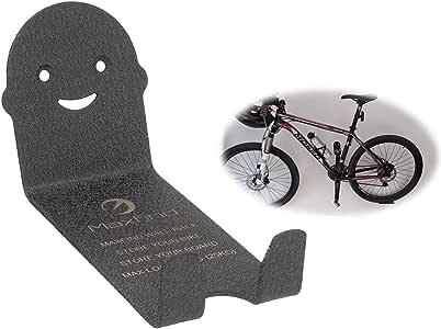 Maxfind 自転車 スタンド クロスバイク ハンガー バイクハンガ 1pc ブラックメタルバイクストレージフックガレージと自転車用自転車ラック