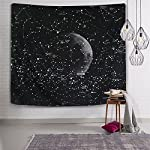 Wall Hanging Tapestry Starry Sky Moon Art Home Decoration Beach Blanket Bedspread