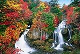 450ピース ジグソーパズル 秋に染まる竜頭の滝―栃木 スモールピース(26x38cm)