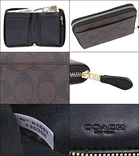 a785f5e13fb3 ... [コーチ] COACH 財布 (二つ折り財布) F30308 ブラウン×ブラック IMAA8 シグネチャー ...