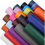 8x12 Inch(21x30cm) Solid Colors Texture Faux Leather Fabric Sheets Cotton Back for Bows Earrings Ornaments Making DIY Project