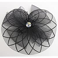 French Veiling Hair Headband Vintage Fashion Fascinator for Wedding, Holiday, Church, Derby and New Years