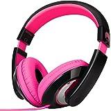 rockpapa On Ear Stereo Headphones Earphones For Adults Kids Childs Teens, Adjustable, Heavy Deep Bass For iPhone iPod iPad Ma