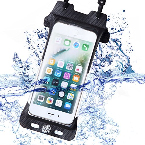 【完全防水 スマホケース】IPX8認定 防水ケース iPhone Plus iPhone8Plus iPhone7Plus 6sPlus 6Plus iPhoneX アイフォン スマホ 高品質 【 指紋認証対応 】スマホポーチ スマホ用 防水ポーチ 海 プール お風呂 登山 台湾製 Sweetleaff (iphone6/6s/7/8Plus)