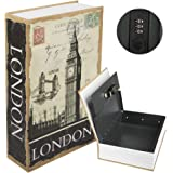 "Kyodoled Diversion Book Safe with Combination Lock, Safe Secret Hidden Metal Lock Box,Money Hiding Box,Collection Box,9.5"" x"