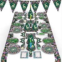 MARUIKAO パーティ装飾セット パーティ食器セット 使い捨て食器セット 飾り パーティ用 クリスマス用 バナー 食器 紙皿 ストロー 9インチプレート