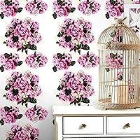 アメリカの壁紙写真壁画、カントリースタイルの壁紙ロールペインティング花植物、少女の居間の壁紙280cm(W)x 180cm(H)