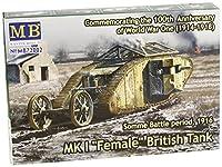"Master Box Models WWI MK I ""Female"" British Tank (Machinegun Version), Somme Battle Period 1916 (1/72 Scale)"