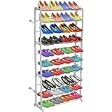 Daonanba Simple Shoe Rack Storage Shelf 140cm x 72cm x 20cm White 1 Pcs