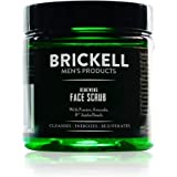 Brickell Men's Renewing Face Scrub for Men, Natural and Organic Deep Exfoliating Facial Scrub Formulated with Jojoba Beads, C