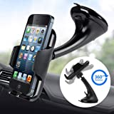 Car Phone Mount Holder Universal Dashboard Windshield Phone Stand 360 Rotating by LotFancy for iPhone 11 XS Max XR 8Plus 8 7