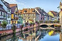 Colmar、フランス–カラフルなTraditional French Houses 12 x 18 Art Print LANT-84542-12x18