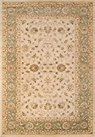 Momeni Rugs ZIEGLZE-04GRN7A9A Ziegler Collection Traditional Area Rug 7'10 x 9'10 Green [並行輸入品]