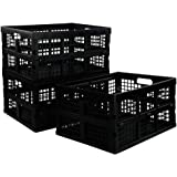 Utiao Plastic Basket Bins for Organizing, 3 Packs (Large)