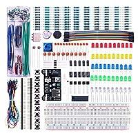 quickbuying新しい到着電源供給モジュール830穴ブレッドボード抵抗器コンデンサLEDキットfor Arduino初心者