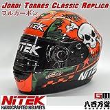 【NiTEK】 ジョーティ・トーレス・クラシック・レプリカフルフェイス ヘルメット LサイズP1 Helmet Full carbon フルカーボンJordi Torres Classic Replicaナイテック ニテック