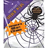 Super Giant Polyester Spider Web Halloween Trick or Treat Party Decoration Fiber White 16 x 10. [並行輸入品]