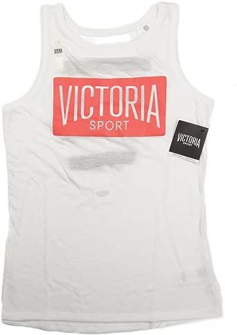 (ヴィクトリアシークレット スポーツ) Victoria's Secret VSX SPORT #XS バンド トレーニング ジム サイクリング ヨガ オーバーサイズ タンクトップ ホワイト 20908NaM [並行輸入品]