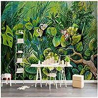 """緑の木の花蝶-壁画-リビングルーム-3Dプリント写真壁紙壁画-壁の装飾-カスタム壁紙ロール-400cm(W)x250cm(H)(13'1""""x8'2"""")ft"""