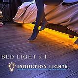 ベッドライトモーションセンサーベッドサイドライトストリップ1.2Mベッドルームベッドルーム暖かい白3500K、LED照明、寝室ライトwith自動シャットオフタイマーベッド下キャビネット下、廊下、ワードローブ、廊下、