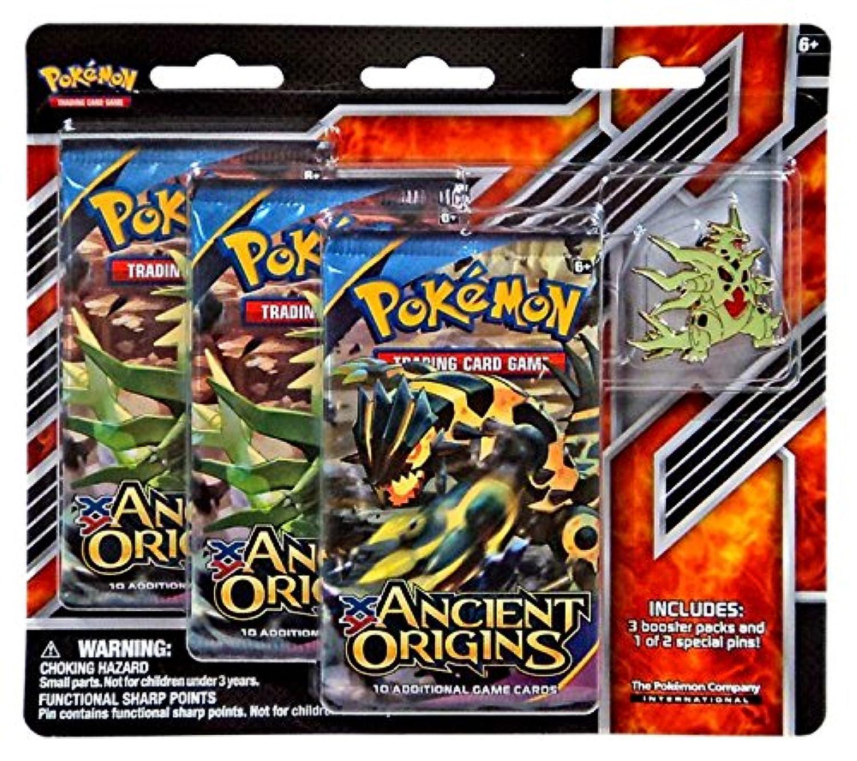Pokemon XY Ancient Origins Mega Tyranitar Pin Pack