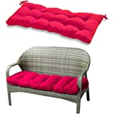 """Indoor/Outdoor Bench Cushion, Swing Cushion, 51.2""""x19.7"""", for Lounger Garden Furniture Patio Lounger Bench (Wine Red)"""
