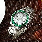 防水腕時計メンズ高級ブランドカジュアルステンレススチールスポーツ腕時計クォーツ腕時計メンズ腕時計 (H)