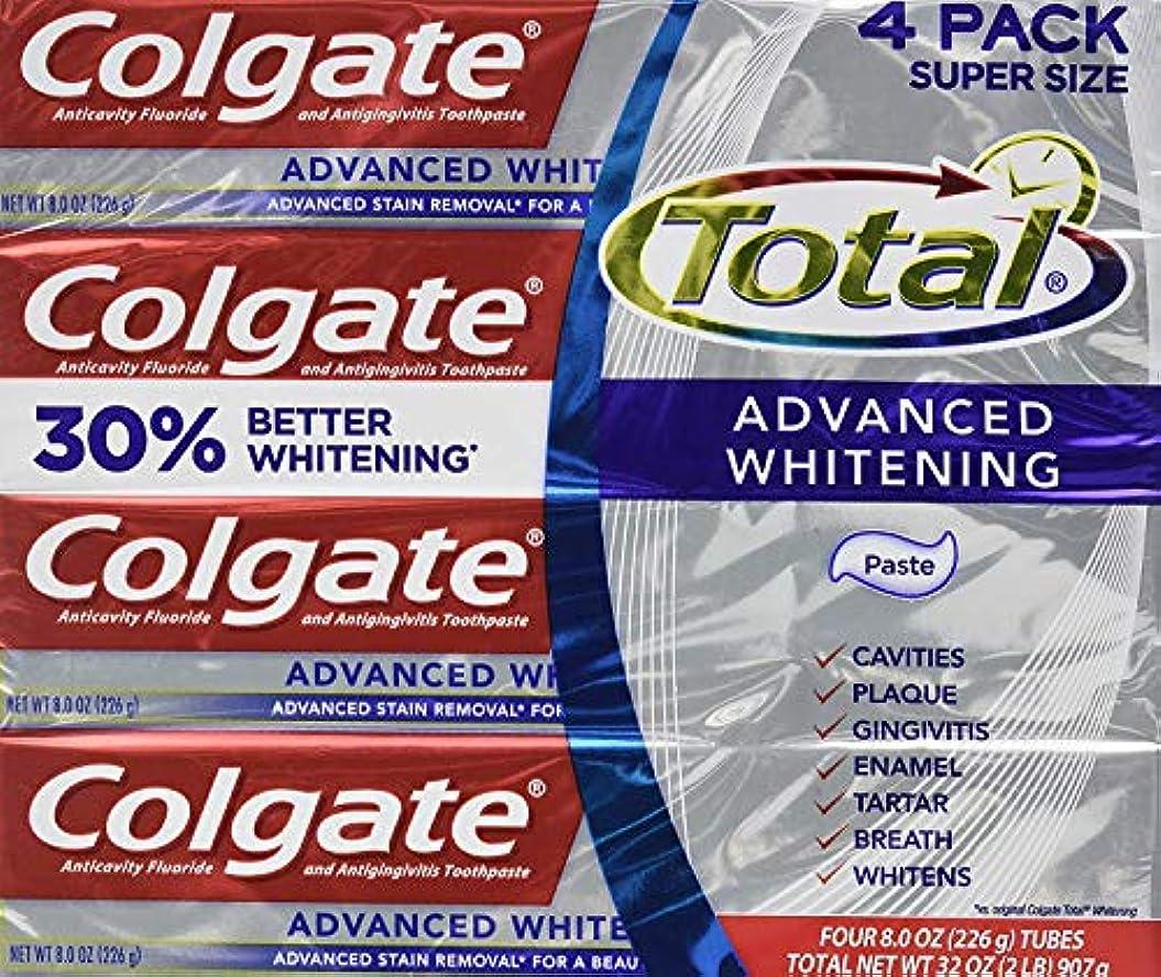 褒賞毛細血管材料コルゲートトータル高度なホワイトニング歯磨き粉 226g x 4個パック
