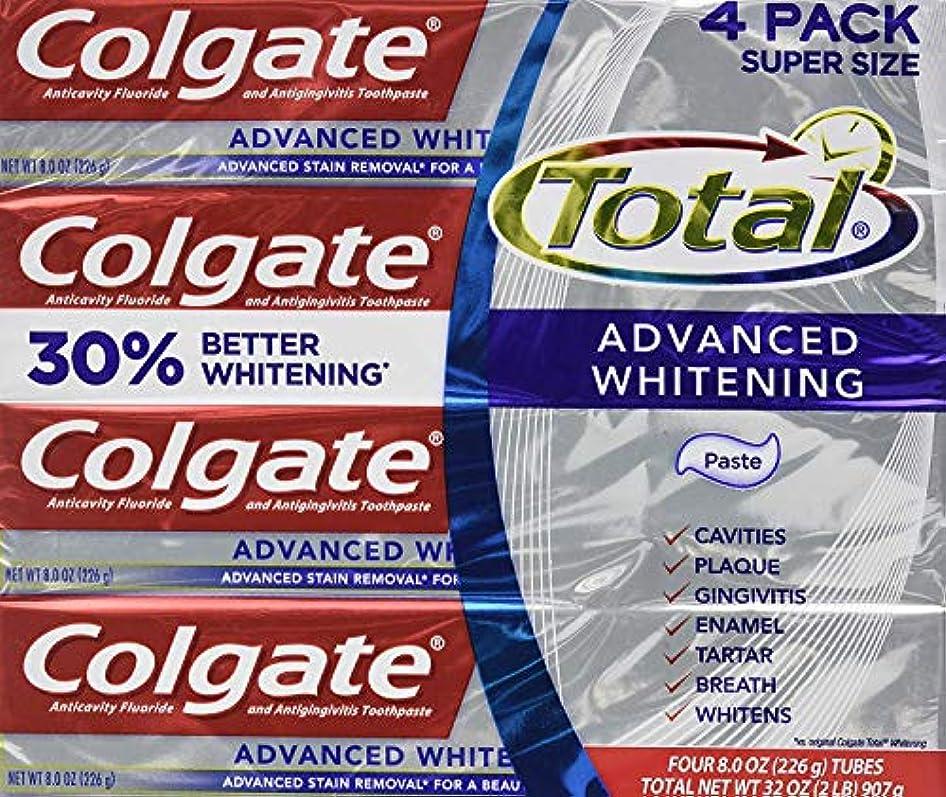 コメンテーターソフトウェア使役コルゲートトータル高度なホワイトニング歯磨き粉 226g x 4個パック