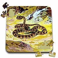 Scenes from the Pastマジックランタン–Horned Viperヴィンテージマジックランタン爬虫類ヘビ1890Wildlife Nature–10x 10インチパズル( P。_ 245897_ 2)
