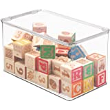 mDesign Kids/Baby Toy Storage Box for Dolls Modeling Clay Blocks Cars - 12.75 x 7.25 x 7 Clear