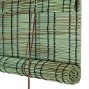 LIANGJUN 竹ロールスクリーン竹はウィンドウシェードを竹すだれ竹製カーテンプラスチック なめらか ロールタイプ 防水 防塵 屋外の レストラン バルコニー - レストラン (色 : B, サイズ さいず : 80x180cm)