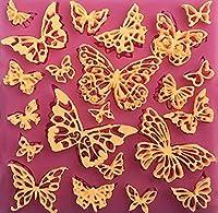 バタフライ21のキャビティピンクシリコン金型フォンダン、チョコレート、Crafts