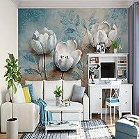Mbwlkj 3Dの写真カスタムのヨーロッパスタイルの壁紙ビンテージレトロな浮彫花壁画家の装飾の壁紙ソファテレビの背景-350Cmx245Cm