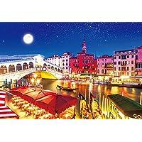 1000ピース ジグソーパズル 世界遺産 月夜のヴェネツィア 世界極小マイクロピース(26x38cm)