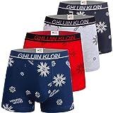 Boys Cotton Boxer Briefs Underwear 8-16 Years Underpants 4-Pack Multicoloured Set Italian Design Ultra Soft
