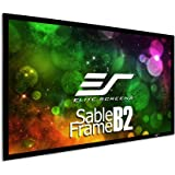 Elite Screens Sable Frame B2, 120-inch Diag. 16:9, Active 3D / 4K Ultra HD Fixed Frame Home Theater Projection Projector Scre