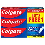 Colgate Maximum Cavity Protection Toothpaste, Great Regular Flavour,175g, (Pack of 3)